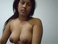 Desi Bengali Bhabhi With Big Tits Giving Blowjob and Titjob